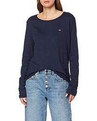Tommy Hilfiger Tjw Soft Jersey Longsleeve Sports Knitwear - Blue