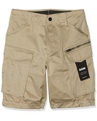 G-Star RAW Rovic Zip Loose 1/2 Pantaloncini Uomo - Neutro