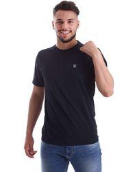 Emporio Armani EA7 Train Soccer Shield Crew Neck T-shirt Large NAVY - Blau