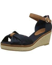 Tommy Hilfiger - 's E1285lba 40d Wedge Heels Sandals - Lyst