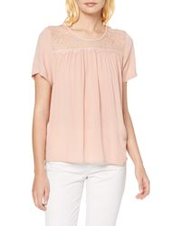 1.State Womens Spaghetti Strap Blouse with Fagoting Trim