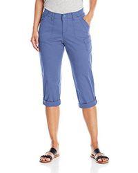 Lee Jeans - Petite Relaxed Fit Carsen Knit Waist Capri Pant - Lyst