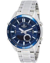 G-Shock Edifice EFV-C100D-2AVDF analogico quarzo argento acciaio inossidabile orologio da uomo - Blu
