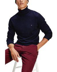 Tommy Hilfiger Pima Cotton Cashmere Roll Neck Sweater - Gris