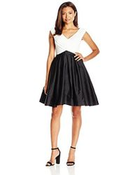 Adrianna Papell - Petite Tafetta Fit And Flare - Lyst