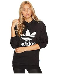 adidas Originals Denim Trefoil Sweatshirt in Black Lyst