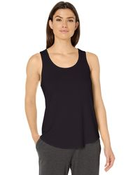Amazon Essentials Relaxed Fit Lightweight Lounge Terry Racerback Tank - Black