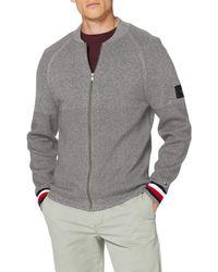 Tommy Hilfiger Zip Through Sweater - Bleu
