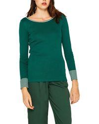 Esprit 999ee1k817 Long Sleeve Top - Green