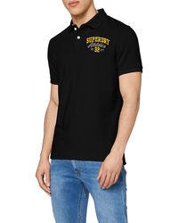 Superdry Classic Superstate S/s Polo Shirt - Black
