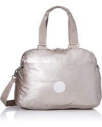 Kipling Deny Travel Duffle Silver - Metallic