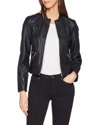 Vero Moda Vmkhloe Favo Faux Leather Jacket Noos - Black