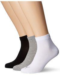 PUMA Plain 3P Quarter Socke - Schwarz