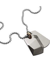 DIESEL Uomo DX1143040 Collana con Ciondolo - Metallizzato