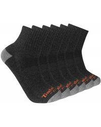 Timberland - 6-pack Performance Quarter Length Socks - Lyst