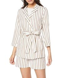 Dorothy Perkins - Yd Stripe Belted Jacket - Lyst
