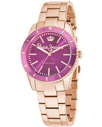 Pepe Jeans - Charlie Quartz Watch With Pink Dial Analogue Display And Rose Gold - Lyst