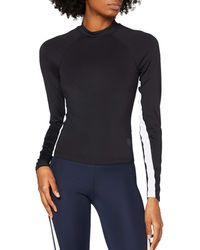 AURIQUE Long Sleeve Side Stripe Sports - Black