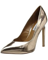 364b69f3a9f Steve Madden Walts Rose Gold Heeled Shoes in Metallic - Lyst