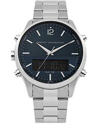 French Connection Quartz Metal And Stainless Steel Casual Watch, Color:silver-toned (model: Fc1309bsm) - Metallic
