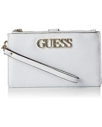 Guess Uptown Chic SLG DBL Zip Orgnzr - Bianco