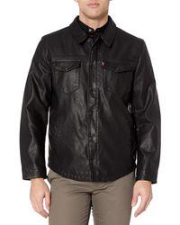 Levi's Faux Leather Shirt Jacket - Black