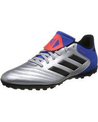 adidas Copa Tango 18.4 TF, Chaussures de Football Homme, Argenté Silber Metallic/Schwarz - Multicolore