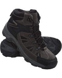 Mountain Warehouse Rapid S Waterproof Boots -suede & Mesh Upper Walking Shoes - Black