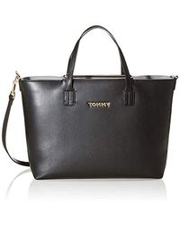 Tommy Hilfiger Iconic Tommy Satchel Solid Cross-body Bag - Black