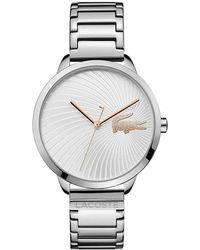 Lacoste Reloj Análogo clásico para Mujer de Cuarzo con Correa en Cuero 2001007 - Metálico