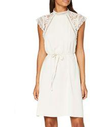 Vero Moda VMPOVLA cap Sleeve Short Dress Wvn Vestito - Nero