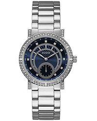 Guess S Analogique Quartz Montre avec Bracelet en Acier Inoxydable W1006L1 - Bleu