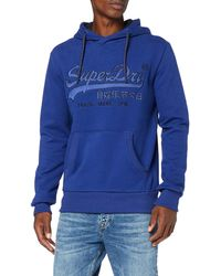 Superdry Racer Applique Hood Sweat-Shirt À Capuche - Bleu