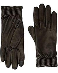 Calvin Klein Leather Gloves Handschuhe - Schwarz