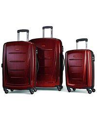 Samsonite Luggage Winfield 2 Fashion Hs 3 Piece Set - Red