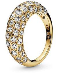 PANDORA Statement-Ringe Vergoldet mit '- Ringgröße 52 168746C01-52 - Mettallic