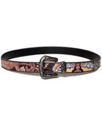 Desigual Belts Indian Pasley Cinturón - Negro