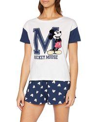Women'secret Secret Multilicense College MC DS Mickey PJ Conjuntos de Pijama - Azul
