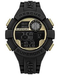 Superdry - Quartz Rubber And Silicone Casual Watch, Color Black (model: Syg193bg) - Lyst