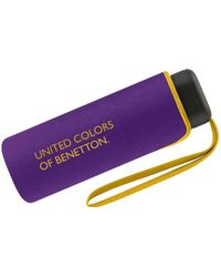 Benetton Benetton Pocket Umbrella Ultra Mini Flat Solid - Purple
