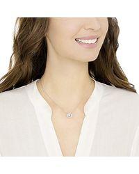 Swarovski Collar Sparkling Dance Round, baño de rodio, cristal blanco, para mujer - Metálico
