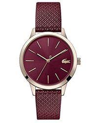 cheap for discount 7d30e e3352 Damen Analog Quarz Uhr mit Leder Armband 2001092 - Rot
