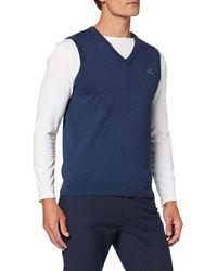 GANT Classic Cotton Slipover Pullover - Blau