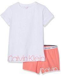 44dc6e43e Knit PJ Set (SS+Short) Conjuntos de Pijama para Niñas - Blanco