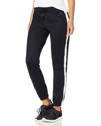 AURIQUE Side Stripe Joggers - Black