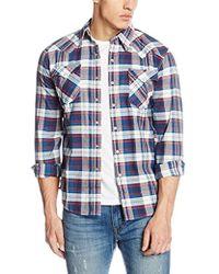 Levi's Barstow Western Camicia Uomo - Blu
