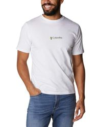 Columbia Short Sleeve Basic Logo ica Corta - Bianco