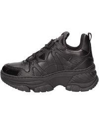 Guess Scarpe Sneaker Con Zeppa Mod. BLUSHY in Ecopelle Nero Donna DS19GU60 - Noir