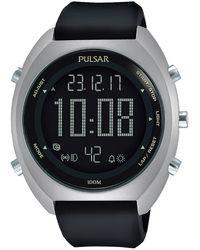 Seiko Pulsar x orologio Uomo Digitale Al quarzo con cinturino in Silicone P5A019X1 - Nero