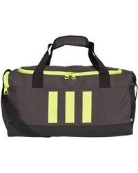 adidas GN2043 3S DUFFLE S Sac de sport unisexe – Adulte dgh solid grey/black/solar yellow - Noir